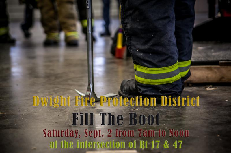 Dwight Fire Protection District's Fill the Boot fundraiser ...